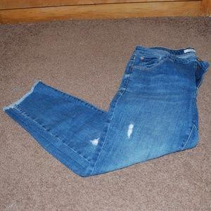 Kensie Hem Fray Jeans